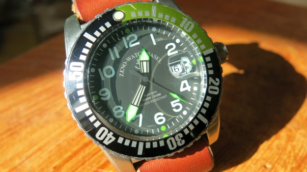 DIY hand sewn Nato leather watch strap 736