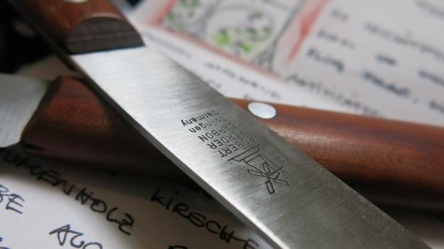 Herder Buckelsklingen Messer Carbon 669