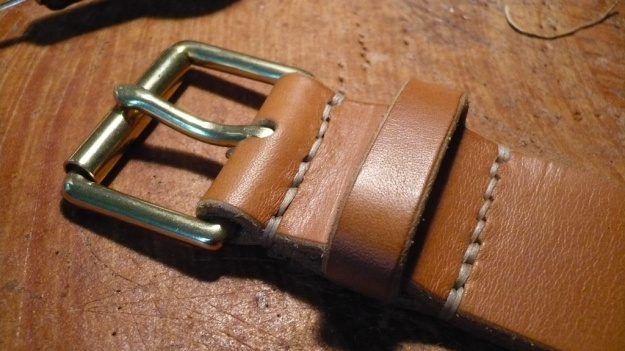 be-cause leather work belts leash leash iphone hand sewn 069