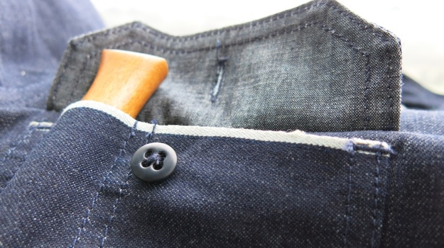 Tellason Clampdown Denim Shirt knife holder