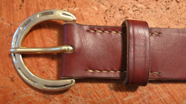 Brass Horseshoe Hufeisen Messing Belt hand sewn