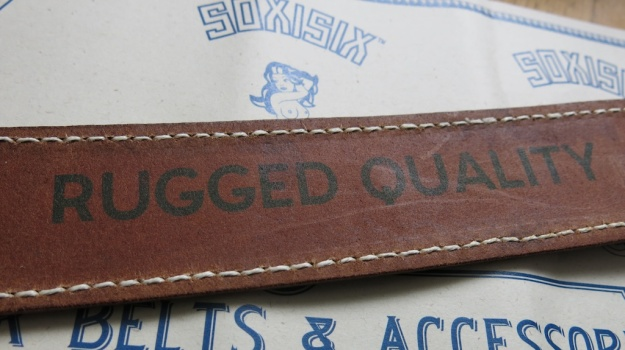 Soxisix BROWN CURVE SEAM Belt Distributed by Red Owl  253