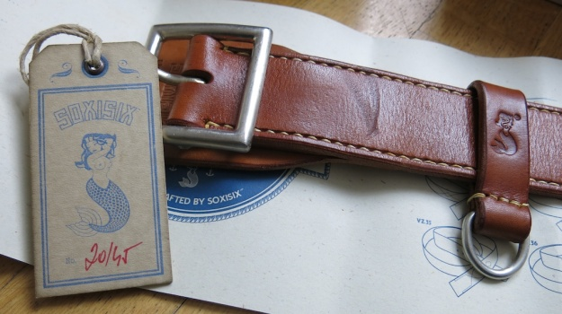 Soxisix BROWN CURVE SEAM Belt Distributed by Red Owl 258