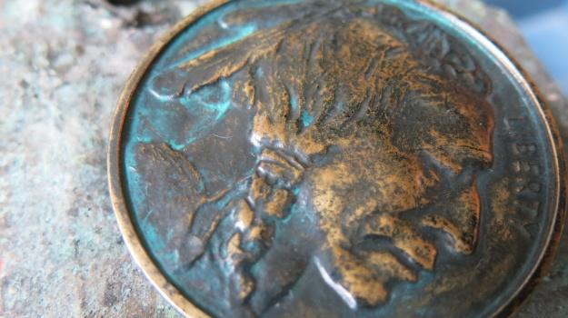 Indian Head Bronze Belt Buckle by Feinschmuck