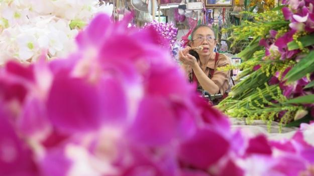 Flowermarket Bangkok Thailand 084