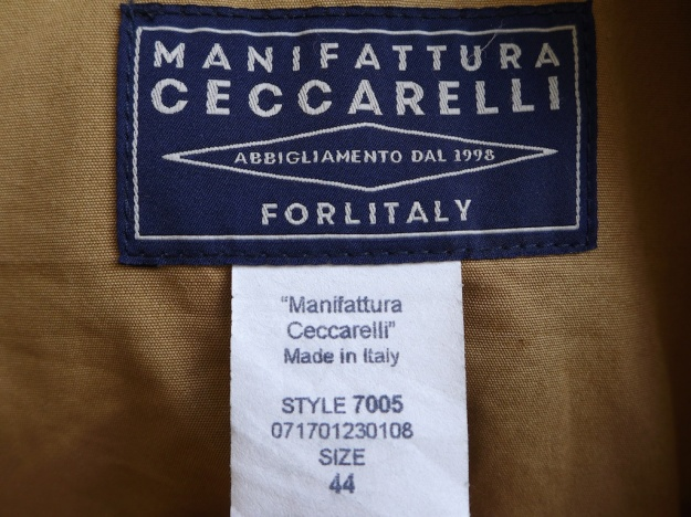 ceccarelli 7005 waxed cotton down coat with hood 1217