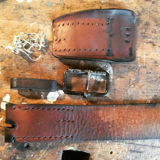 Jugoslawischer Militärgürtel vintage used worn Army